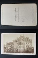 Mieusement, France, château de Chenonceau Vintage albumen print CDV.  Tirage a