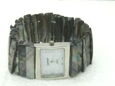 Accutime Abalone Stretch Band Watch, Ladies, signed Avenue (Lane Bryant)
