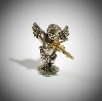 miniatura vintage -  argento 800 - angelo con violino  - Italy - 1eb