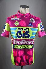 Gelati GiS Giessegi Rad Trikot Gr. 5 BW 52cm Bike cycling jersey Shirt FZ1