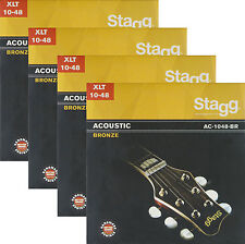 4er-Pack Gitarrensaiten Satz Western Akustik Gitarre Bronze Saiten Seiten Set