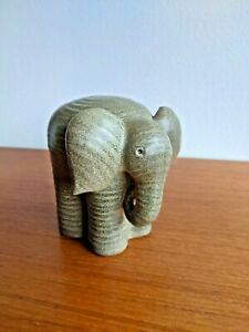RETRO LISA LARSON Signed Elefant Elephant Gustavsberg K-Studion MCM Sweden