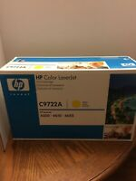 Genuine HP LaserJet C9722A 641A Yellow Toner Print Cartridge - NEW SEALED BOX