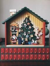 Wooden Nordic Winter 24 Day Countdown Calendar House Christmas Advent Decor Gift