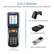 Eyoyo 3 in 1 Wireless Barcode Scanner Data Collector Inventory Bar Code Reader