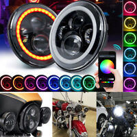 RGB 7inch LED Headlights Projector Lens High Output DRL Halo For GQ PATROL 1PC