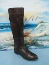 MICHELLE D WOMENS BROWN LEATHER TALL BOOT SIZE 8 M