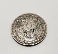 1890 Morgan Dollar Hobo Nickle Coin Tiger Growel