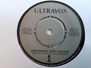 "Ultravox - Hiroshima Mon Amour - 7"" Vinyl Single"