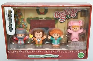 FISHER PRICE Little People A CHRISTMAS STORY 4 Figure Box Set Ralphie Old Man LP