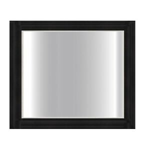 900 x 750 mm Modern Design Black Glass Framed Bathroom Mirror - 5 mm