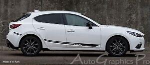 RUSH Vinyl Graphics Side Door Body Line Accent Stripe Decal for Mazda 3