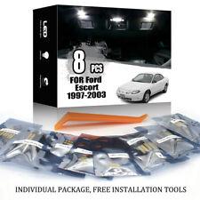 8x For Ford Escort 1997-2003 Car Interior LED Lighting Kit White + TOOL