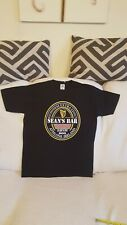 Sean's Bar t shirt, size Medium, black with printing on front Guinness , cotton