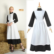 Women Ladies Colonial Renaissance Pioneer Fancy Dresses Maid Cosplay Costumes