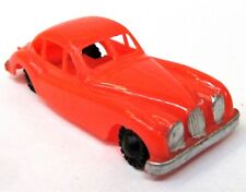 c. 1960 Blue-Box 7421 JAGUAR COUPE Hong Kong RED ORANGE plastic Matchbox Copy