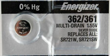 1 NEW ENERGIZER SR721SW 362 Silver Oxide 1.55v Watch Battery Aussie Stock