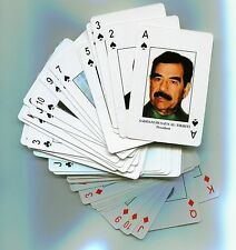 Iraq Most Wanted Deck of Playing Cards Iraqi War Saddam in Protective Case