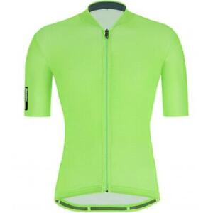 Santini 2021 Colore Men's Short Sleeve Cycling Jersey in Green