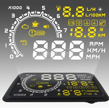 OBD2 HUD W02 LCD Car HUD Car Interface Overspeed Warning Head Up Display