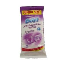 Duzzit Antibacterial Wipes Pack of 30 Lavender Fragrance Kills Bacteria NEW