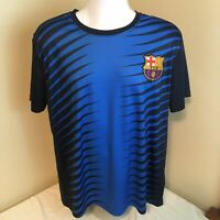 FCB Barcelona Mens Soccer Football Jersey Large Blue Free Shipping