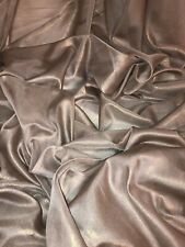 """5 MTR QUALITY CHAMPAGNE/GOLD SHIMMER CHIFFON FABRIC...58"""" WIDE"""