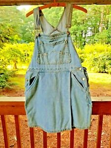 Gloria Vanderbilt Women's Denim Bib Overalls Shorts & Front Skirt Culottes Large