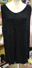 olivia moon women's 1XL Black striped sleeveless comfort rayon blouse