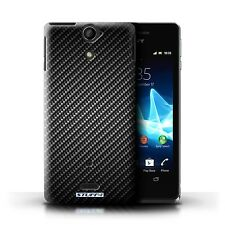 STUFF4 Case/Cover for Sony Xperia V/LT25i/Carbon Fibre Effect/Pattern/Grey