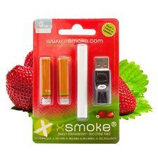 ELECTRONIC SHISHA HOOKAH RECHARGEABLE STRAWBERRY VAPOR E PEN + USB Charger