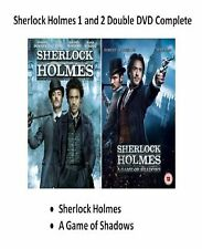 SHERLOCK HOLMES 1 AND 2 DVD Movie Game of Shadows Guy Richie Film Robert Downey