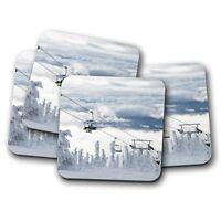 4 Set - Big White Resort Coaster - Kelowna Canada Ski Winter Skiing Gift #12775