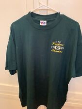 VINTAGE 1996 GREEN BAY PACKERS NFC CHAMPS T-SHIRT MAJESTIC XL 100% COTTON