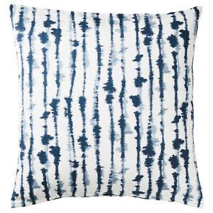 2 x IKEA STRIMSPORRE Cushion cover, white / blue 50x50 cm