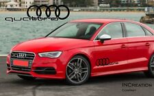 Audi A3 Quattro Factory Style Door Vinyl Stickers Decals, Racing Emblem Logos x2