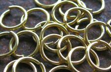 200 x Biegering Öse 8 x 8 mm offen goldfarben Schmuckherstellung Basteln neu