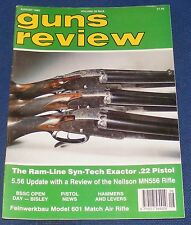 GUNS REVIEW MAGAZINE AUGUST 1992 - THE RAM-LINE SYN-TECH EXACTOR PISTOL