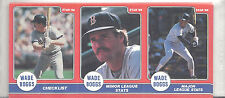 1986 Star Wade Boggs Boston Red Sox UNOPENED Panel Card Set Poster Back