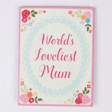New Sass & Belle World's Loveliest Mum Floral Magnet Pink Flowers Metal Plaque