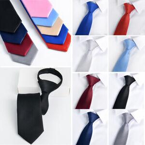 Men's Neckties Classic Fashion Wedding Ties Solid Colors Tie Neck Ties 10 Colors