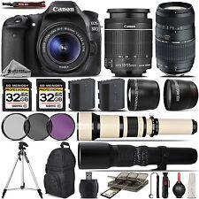 Canon EOS 80D Digital SLR Camera + 18-55mm + 70-300mm Lens - 64GB Kit Bundle