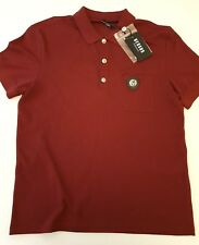 VERSUS VERSACE  LIONS HEAD polo slim fit t-shirt XXL in wine red BU90344