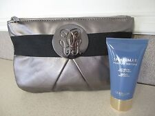 Guerlain Paris Cosmetic Bag Gun Metal Shalimar Body Lotion 30 ML 1Fl Oz New