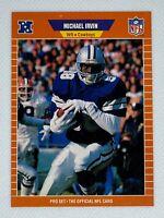 1989 Pro Set Michael Irvin #89 Rookie Card RC Dallas Cowboys HOF