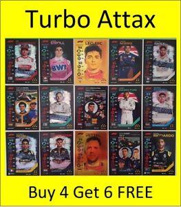 Turbo Attax F1 Formula 1 Cards Buy 4 Get 6 FREE Hamilton Ricciardo Verstappen