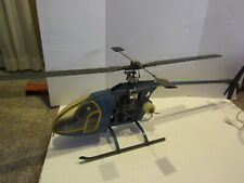 Vintage Huge Gas Powered Rc Helicopter Engine Rotor Body Parts Repair Restore