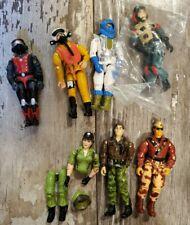 Lot of 7 vintage GI Joe Action Figures 1980's