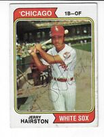 JERRY HAIRSTON 1974 TOPPS AUTOGRAPHED BASEBALL CARD 96 CHICAGO WHITE SOX