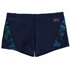 Slazenger Kids Boys Curve Panel Boxer Swim Shorts Junior Swimming Pants Trousers